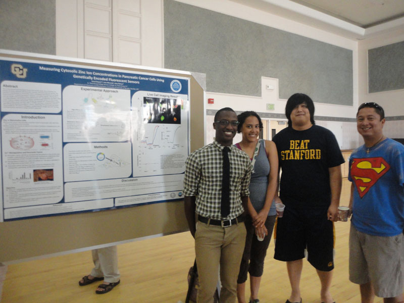 Jamal presents his summer research